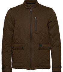 city microfibre quilt jacket doorgestikte jas groen superdry