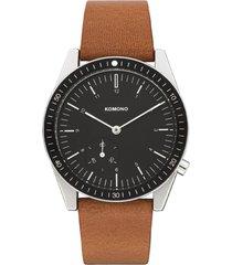 reloj analogo ray legacy leather cognac komono