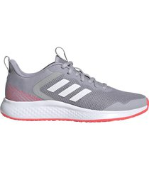zapatilla gris adidas fluidstreet