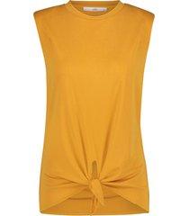 top met knoopdetail marcella  oranje