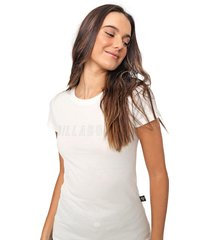 blusa billabong glitter off-white