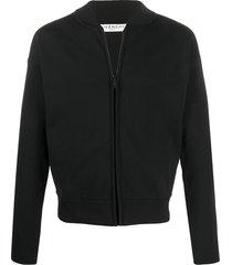 givenchy mesh bomber jacket - black