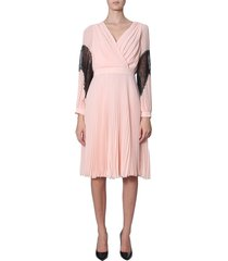 boutique moschino pleated dress