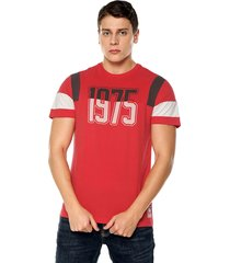 camiseta rojo-gris-blanco americanino