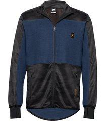 camo fleece jacket sweat-shirt tröja blå bula