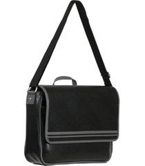vegan leather messenger bag