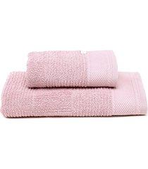jogo de banho 2pçs buddemeyer oxford rosa