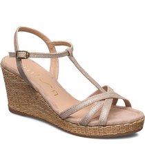 llinar_ev_ks sandalette med klack espadrilles guld unisa