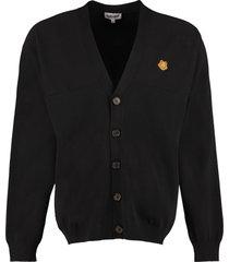 kenzo buttoned cotton cardigan