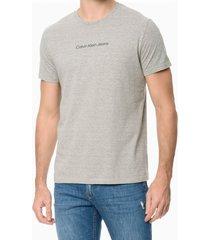 camiseta masculina logo básico cinza mescla calvin klein jeans - pp