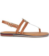 sail ankle-strap thong sandals