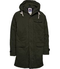 classic padded organic cotton parka jacket parka jas groen scotch & soda