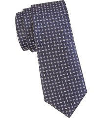 canali men's printed silk tie - black