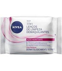 lenços de limpeza demaquilantes nivea 3 em 1 ação hidratante 25un