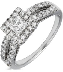 diamond princess cut (1 ct. t.w.) ring in 14k white gold