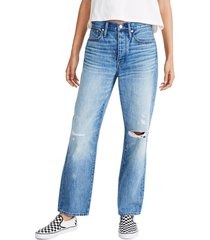 women's madewell the dad jean ripped edition