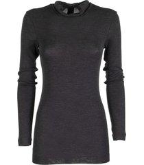 brunello cucinelli wool turtleneck sweater dark grey