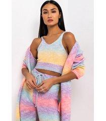 akira cotton candy sweater crop top