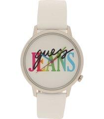 reloj blanco-multicolor guess