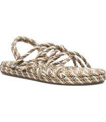 rope roxa sandal shoes summer shoes flat sandals beige becksöndergaard