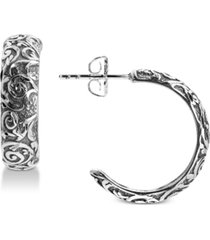 american west filigree half hoop earrings in sterling silver
