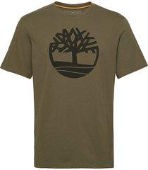 ss k-r brand tree t t-shirts short-sleeved grön timberland