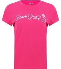 camiseta cuello redondo screen color rosado, talla m