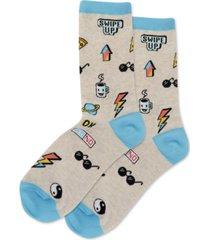 hot sox women's pop stickers crew socks