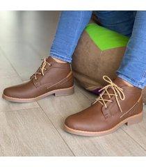 zapato botín casual  - marrón