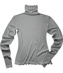 shirt met lange mouwen uit biologische zijde, platina 36/38