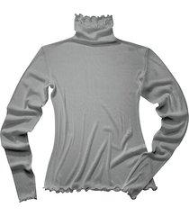 shirt met lange mouwen uit biologische zijde, platinum 40/42