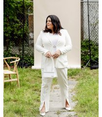 danielle bernstein plus size slit-front pants, created for macy's