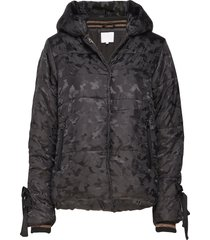 jacket in faux down w. camouflage gevoerd jack zwart coster copenhagen