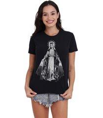 camiseta basica my t-shirt crowned saint preto