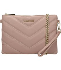 marc ellis suami clutch in rose-pink leather