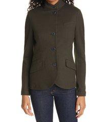 women's rag & bone slade wool blazer, size 4 - green