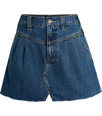 free people women's sidecar denim mini skirt - saratoga blue - size 24 (0)