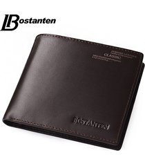 coffee new vintage men vertical style cow leather men wallet men designer carter