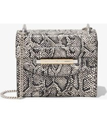 proenza schouler elaphe delta crossbody bag optic white + black/grey one size