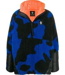 marcelo burlon county of milan camouflage fleece hoodie - blue