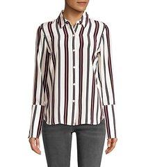 long cuff pajama blouse