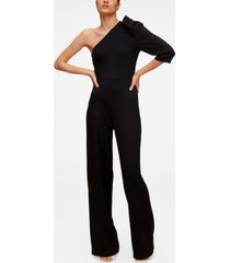 mango women's asymmetric long jumpsuit