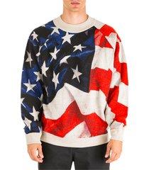 ih nom uh nit american flag jumper