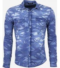 daniele volpe denim overhemd blauw
