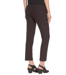 women's eileen fisher stretch crepe slim ankle pants, size large