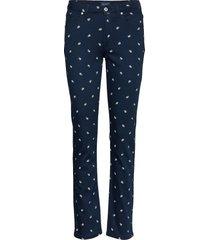 d1. slim twill small paisley jeans slimfit byxor stuprörsbyxor blå gant