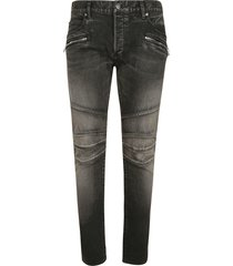 balmain stone washed slim jeans