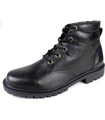 coturno cla cle bota unissex sola de borracha couro preto