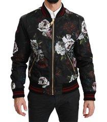 bloemen roses bomber gevulde jacket