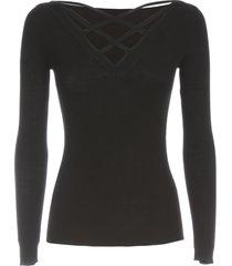 parosh sweater w/criss cross on back